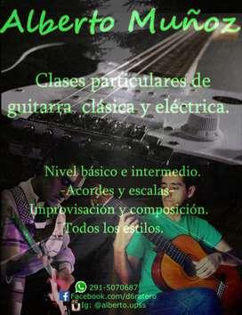 Clases particulares de guitarra criolla y eléctrica