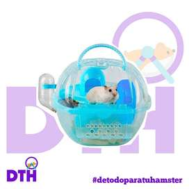 casita transportador para hamster con accesorios