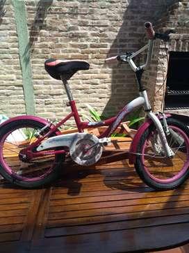 Bicicleta raleigh de niña rodado 16