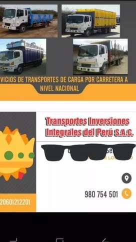 Servicio de transportes de carga a nivel.nacional