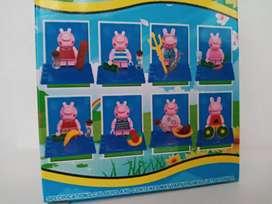 8 legos peppa pig (colección)