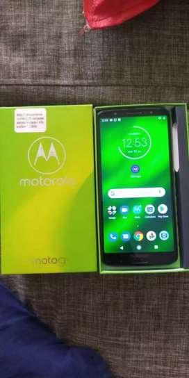 Vendo hermoso. Motorola g 6 plus. Como nuevo. De 64 GB. 4 de ram. Con lector de huellas. Y reconocimiento facial