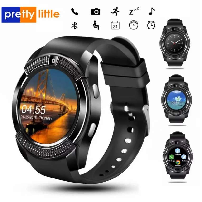 Hermoso smartwatch con SIM, cámara 0