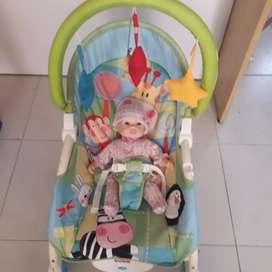 Silla Mecedora- Vibracion para Bebé Crece conmigo Fisher-price