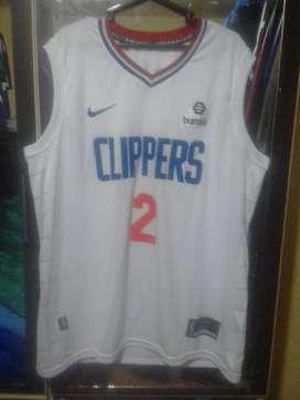 Camiseta Oficial de Basket NBA NFL NHL MLB LA CLIPPERS 2020 WHITE