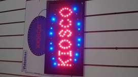 Letrero led kiosco