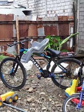 Silla de bebe para bicicleta