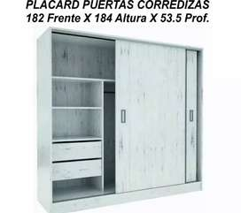 Placard puertas corredizas 182 , con guías metálicas