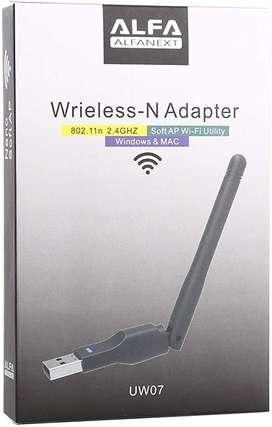 Adaptador Usb 2.0 Wifi Inalambrica Antena 300mbps