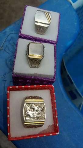 Vendo anillos para hombre de plata y oro