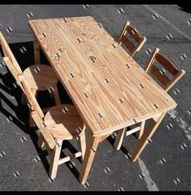 Mesas y sillas para negocio bar restaurante cafetería nuevos