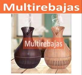 Humidificador Aromatizante en Forma de Florero En Madera