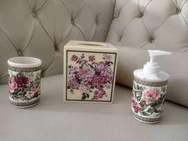Set Kit de baño panuelera, vaso agua y jabon