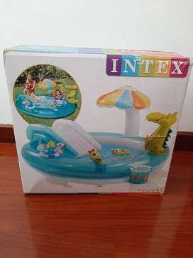piscina inflable de cocodrilo