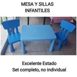 SET MESA y SILLAS INFANTILES