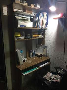 Escritorio de estudio y computador