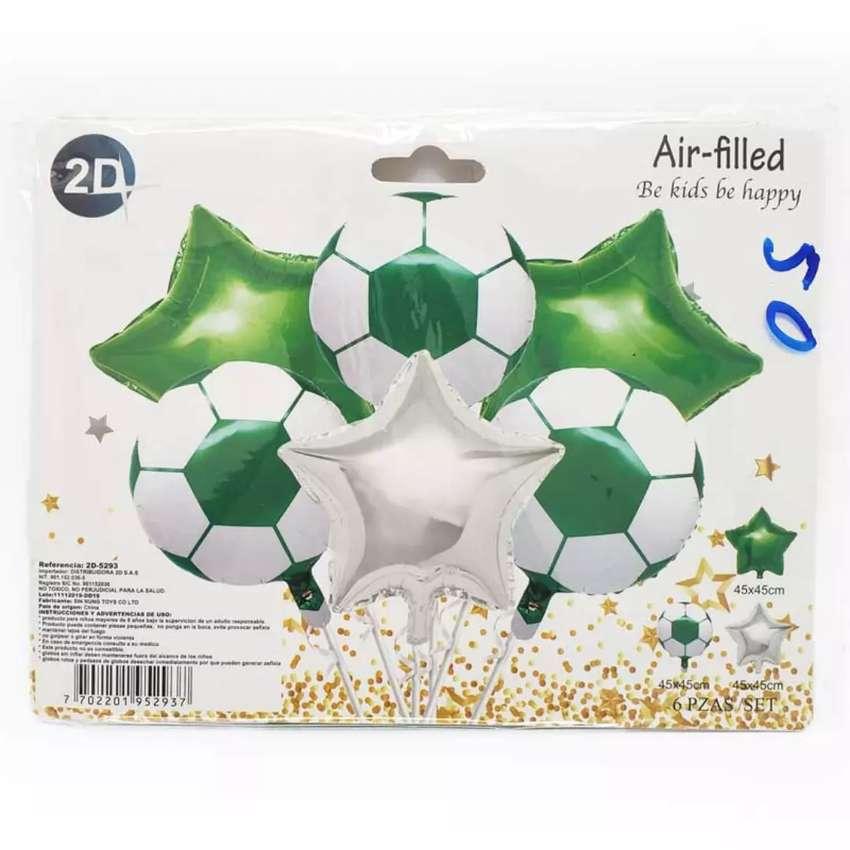 Bouquet globos metalizados x 6 Piesas