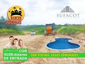 QUINTAS RANCHO SPONDYLUS, TERRENOS CAMPESTRES DE 1.000M2, CUOTITAS MENSUALES DE 138 USD, RUTA DEL SOL, SUR DE MANTA S1