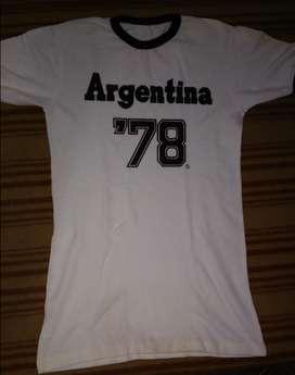 Camiseta Blanca Argentina 78