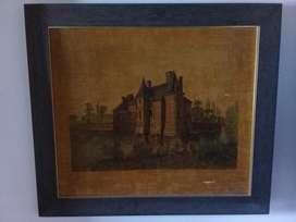 Antiguo Cuadro Chateau de Victot