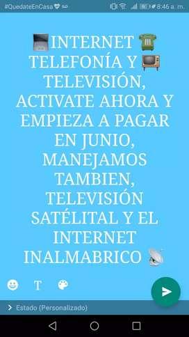 TELEVISIÓN, TELEFONÍA E INTERNET