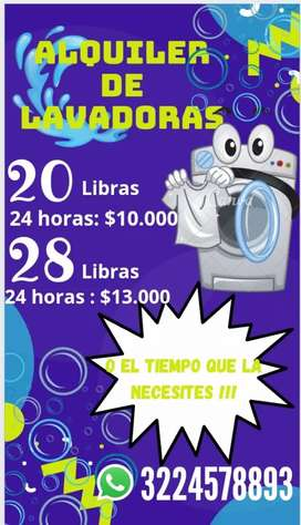 Se alquilan lavadoras