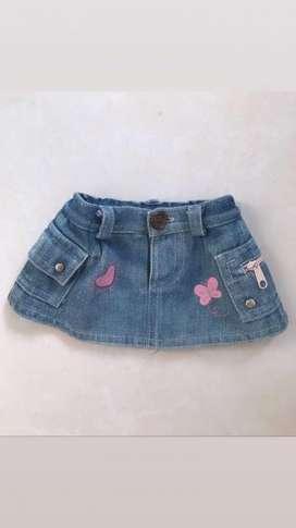 Mini Falda D Jeans para Mascotas Perrita