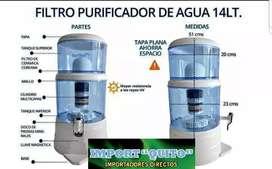 Filtro purificador y mineralizador de agua