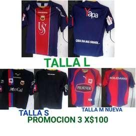 Venta Camisetas de fútbo promoción x3 combo originales nacionales e internacionales antiguas 0