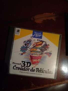 """CD MICROSOFT HOME """"MICROSOFT 3D CREADOR DE PELÍCULAS"""