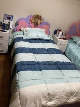 Tarima de cama de Plaza y media para niña