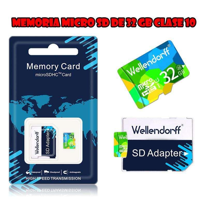 Memoria Micro SD Wellendorff de 32GB Clase 10 0