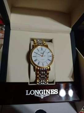 Vendo reloj Longines d oro y acero, vidrio y contratapa d Cristal de zafiro, nuevo , original