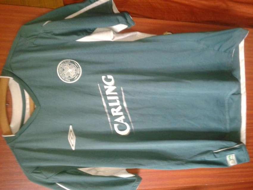 Camiseta Celtic Original Umbro 2004 2005 visitante Liga y UCL Talle L 0