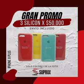 Funda / Forro / Silicon Iphone 7plus - 8 plus (3x50.000)