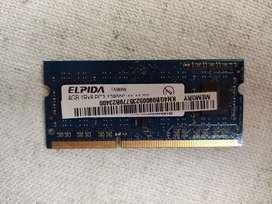 Memoria RAM Para portátil 4Gb DDR3 ELPIDA