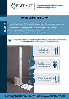 Torre de desinfección para la casa, departamento, empresa o industria.