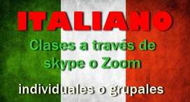 ITALIANO clases online por skype o Zoom