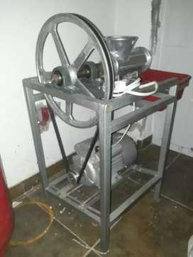 Molino y embutidor carne electrico motor 1 Hp