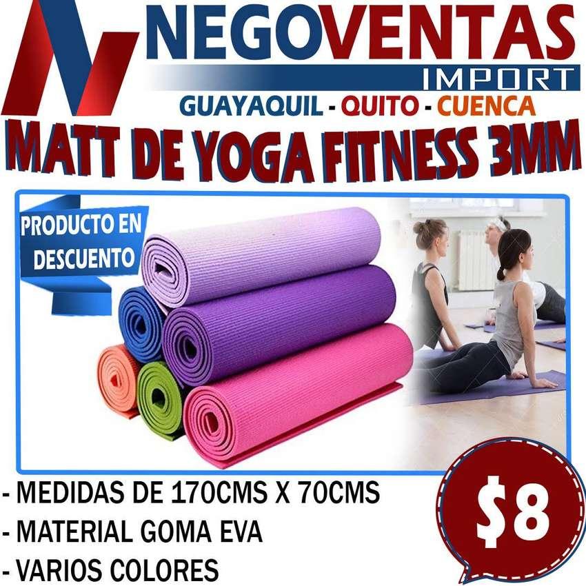MATT DE YOGA FITNESS DE 3MM 0