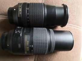Vendo dos lentes Nikon por el precio de uno, un gran angular(18-140mm) y un teleobjetivo(70-300mm).