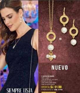 Coleccion Collar Y Aretes Dupree Nueva