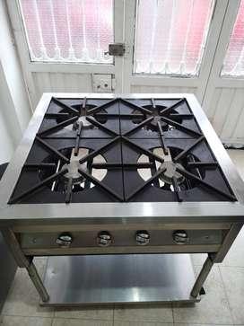 Vendo estufa industrial cuatro puestos (usada buen estado)