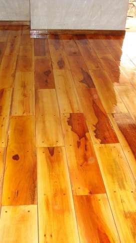Colocacion, pulido y plastificado pisos de madera