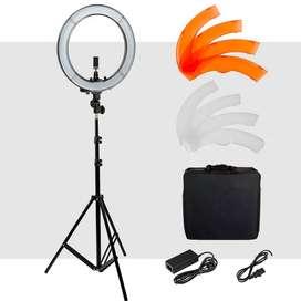 Aro de luz led profesional 50cm tatuaje maquillaje fotografia video webcam spa