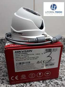 Cámara Hikvision Domo Metal. DS-2CE56F1T-ITM, 3 mpx