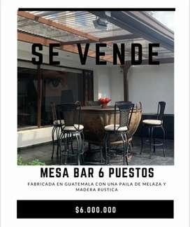 Mesa Bar 6 puestos