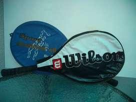 Vendo dos raquetas tenis marca Wilson y spot racquet