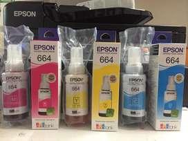 Tinta Epson Serie T664 Colores Cmybk 70 ml. L200 L220 L355