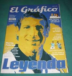 REVISTA EL GRAFICO 4411 PALERMO BOCA LEYENDA . POSTER TEVEZ Y FALCAO . NOTA A 25 AÑOS DE MUNDIAL 86